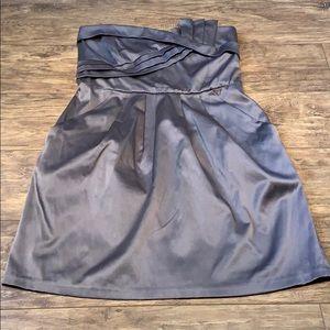 Strapless Grey/silver dress